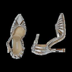 Escarpins argenté brillant avec sangle, talon 11 cm , Chaussures, 152168657LMARGE039, 003 preview