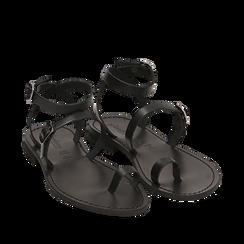 Sandali neri in pelle di vacchetta, Primadonna, 158100570VANERO036, 002a