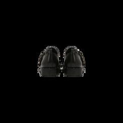 Stringate fibbia nera con mini-borchie, Scarpe, 129382510EPNERO036, 003 preview