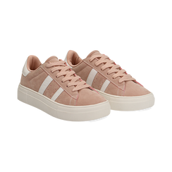 Sneakers rosa in microfibra stile vintage Seventies,