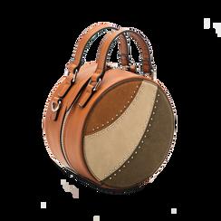 Mini-bag tonda multicolore in ecopelle, Borse, 122404146EPCUOIUNI, 003 preview