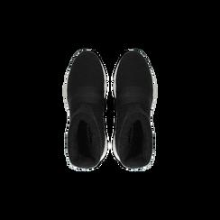 Sneakers nero-rosse sock boots con suola in gomma bianca, Scarpe, 124109763TSNERS, 004 preview