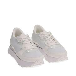 Sneakers bianche in tessuto tecnico , Primadonna, 177519601TSBIAN035, 002a