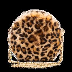 Tracollina leopard in pelliccia, Borse, 12B412001FULEOPUNI, 001a