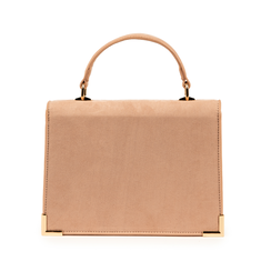 Mini bag nude in microfibra, Primadonna, 155122533MFNUDEUNI, 003 preview