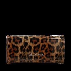 Portafogli leopard in vernice, Borse, 142200002VELEOPUNI, 001a