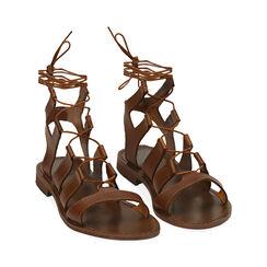 Sandales cognac en cuir de vache, Primadonna, 178100348VACOGN035, 002a