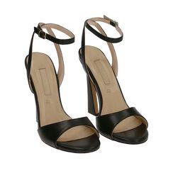 Sandali neri, tacco 11,5 cm , Primadonna, 172195211EPNERO036, 002a