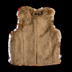 Smanicato eco-fur rosa nude, Abbigliamento, 12B400302FUNUDE, 001 preview