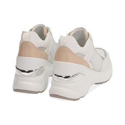 Sneakers bianche, zeppa 9 cm , Scarpe, 172892138EPBIAN037, 004 preview