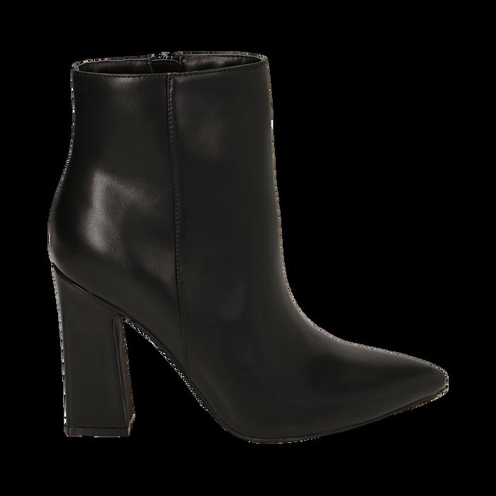 Ankle boots neri, tacco 10 cm , Primadonna, 164822754EPNERO035