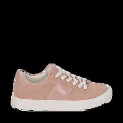 Sneakers de microfibra en color nude, Zapatos, 152619072MFNUDE035, 001a