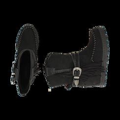 Stivali indiani neri in microfibra , Promozioni, 160750551MFNERO037, 003 preview