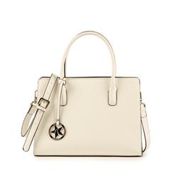 Bolsa de mano en eco-piel color blanco, Primadonna, 155702639EPBIANUNI, 001a