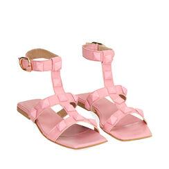 Sandalias rosa de cuero, Primadonna, 17L602302PEROSA035, 002a