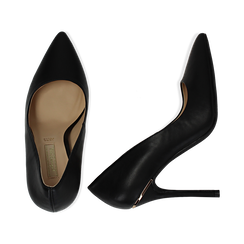 Escarpins noir en simili cuir, talon 11 cm , Primadonna, 152146861EPNERO036, 003 preview