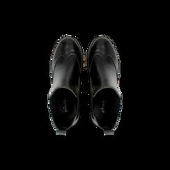 Chelsea Boots neri, tacco 3 cm, Scarpe, 120683012EPNERO, 004 preview