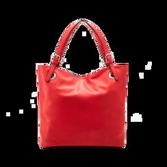 Borsa shopper rossa in ecopelle, Borse, 121506104EPROSSUNI, 002 preview