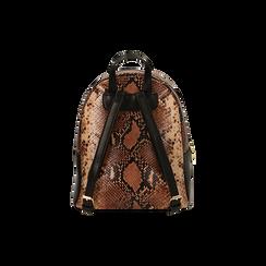 Zaino marrone snake print, IDEE REGALO, 165100053PTMARRUNI, 003 preview