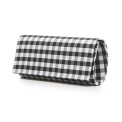 Clutch bianco/nera in tessuto stampa Vichy, Borse, 133308825TSNEBIUNI, 004 preview