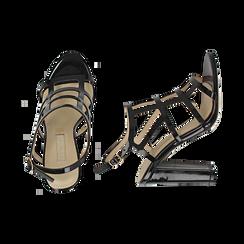 Sandali neri in vernice, tacco 10,50 cm, Scarpe, 152123413VENERO036, 003 preview