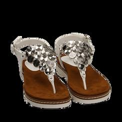 Sandali infradito bianchi in eco-pelle , 154927051EPBIAN035, 002a
