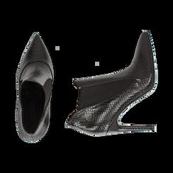 Ankle boots neri stampa vipera, tacco 10,50 cm , Primadonna, 162123741EVNERO035, 003 preview