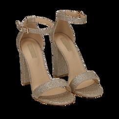 WOMEN SHOES SANDAL GLITTER OROG, Chaussures, 152706086GLOROG035, 002a