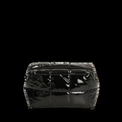 Trousse duvet nera in vernice, IDEE REGALO, 165122984VENEROUNI, 001a