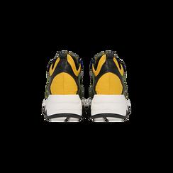 """Sneakers nero-verde  con zeppa effetto """"wave"""", Primadonna, 12A600999PENEVE039, 003 preview"""