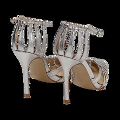 Escarpins argenté brillant avec sangle, talon 11 cm , Chaussures, 152168657LMARGE039, 004 preview