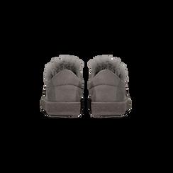 Sneakers grigie slip-on con dettagli faux-fur e borchie, Primadonna, 129300023MFGRIG038, 003 preview