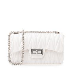 Mini-bag bianca in pvc, Primadonna, 137409999PVBIANUNI, 001a
