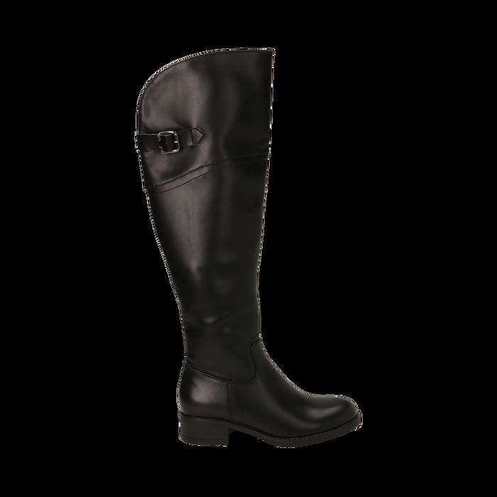 Stivali overknee neri, tacco 4 cm , Primadonna, 160621687EPNERO035