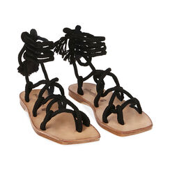 Sandales en tissu noir, Primadonna, 17A131482TSNERO035, 002 preview
