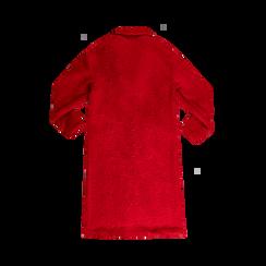 Cappotto lungo rosso lavorazione shearling, Abbigliamento, 12G750756TSROSS, 002 preview