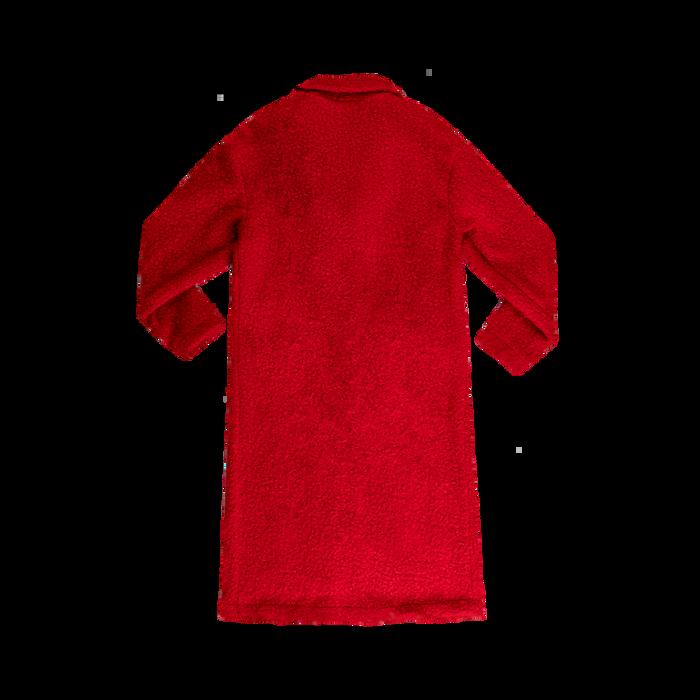 size 40 02f9f 1abeb Cappotto lungo rosso lavorazione shearling