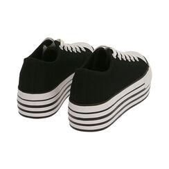 Sneakers negras de lona, Primadonna, 172642102CANERO035, 004 preview