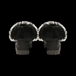 Scarponcini invernali neri con risvolto in eco-fur, Primadonna, 125001328MFNERO, 003 preview