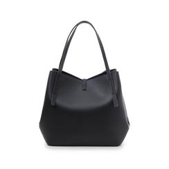 Maxi-bag nera in eco-pelle, Borse, 145786775EPNEROUNI, 003 preview