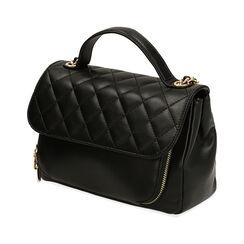 Bolsa de mano matelassé negra, Primadonna, 161071158EPNEROUNI, 002a