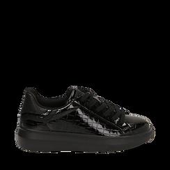 Zapatillas en charol color negro, Primadonna, 162602011VENERO035, 001a