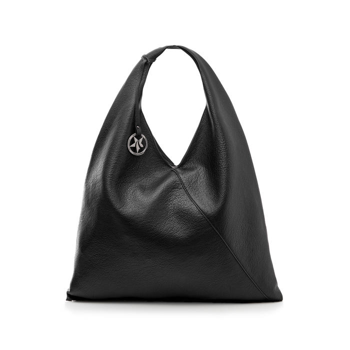 Hobo bag nera in eco-pelle, Borse, 141918028EPNEROUNI