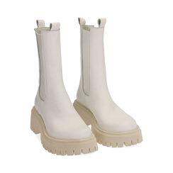 Bikers gruesas de piel en blanco, tacón 5 cm, Zapatos, 177277045PEBIAN036, 002 preview