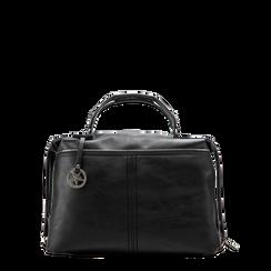 Maxi-bag nera in ecopelle, Primadonna, 122901475EPNEROUNI, 001a