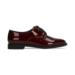 Stringate derby vernice bordeaux , Scarpe, 120618121VEBORD, 001 preview