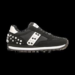 Sneakers nere color block, Scarpe, 122618834MFNERO, 001 preview