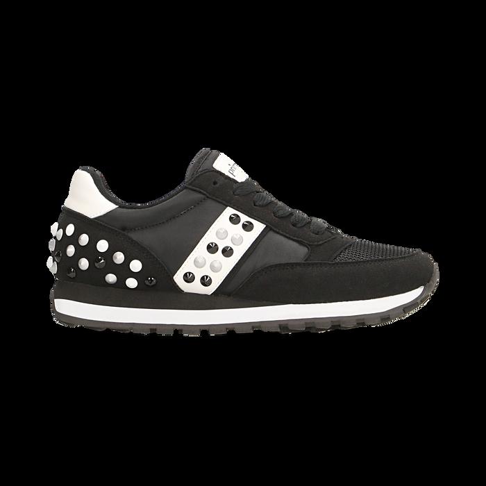 Sneakers nere color block, Scarpe, 122618834MFNERO