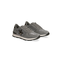 Sneakers grigie dettagli glitter , Primadonna, 121308201LMGRIG, 002 preview