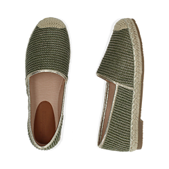 Espadrillas verdi in rafia, Chaussures, 154902099RFVERD036, 003 preview